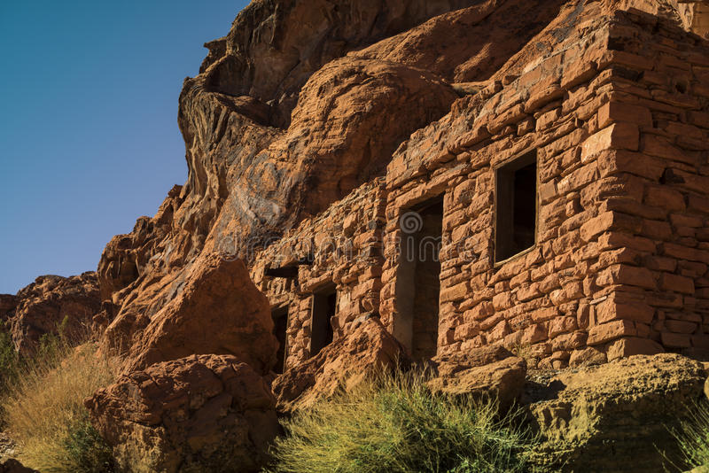 The Cabins in the Valley of Fire State Park royalty free stock image