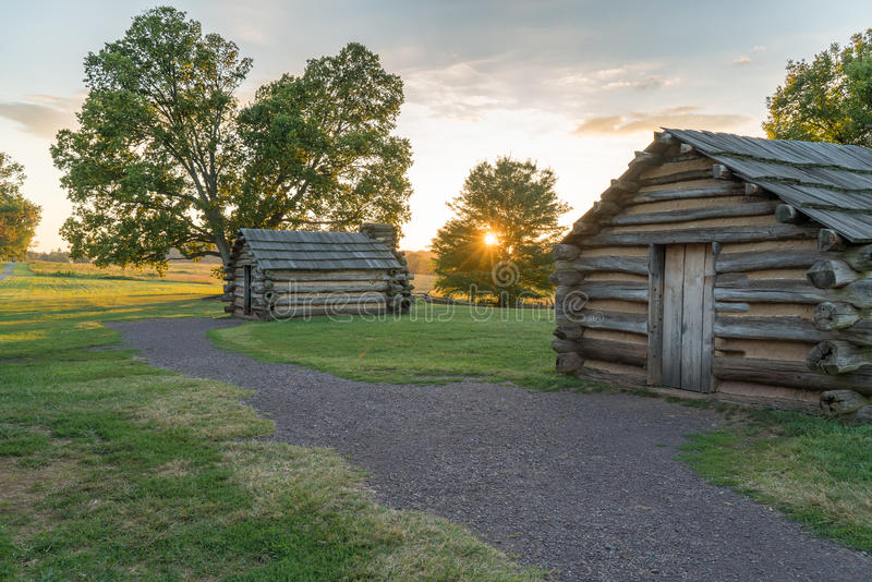 Cabins at Valley Forge National Park stock photos