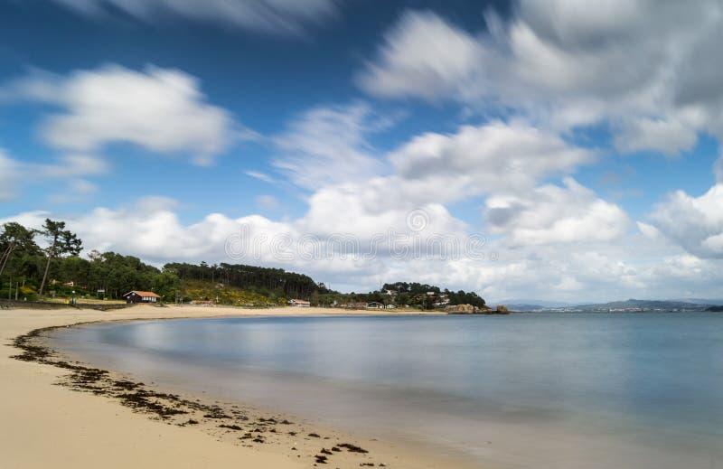 Galifornia. Cabio beach in Pobra do Caraminal, Galicia stock photography