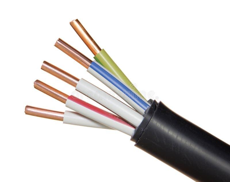 Cable électrique photos libres de droits