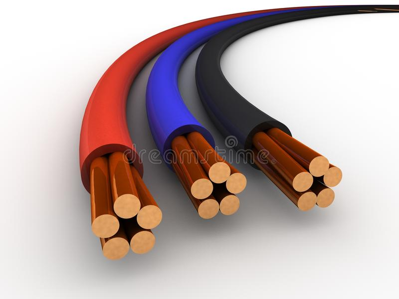 Download Cable stock illustration. Illustration of electrical - 22346920
