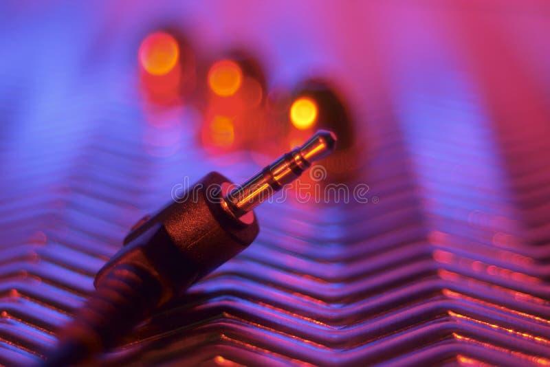 Cable audio fotografía de archivo libre de regalías
