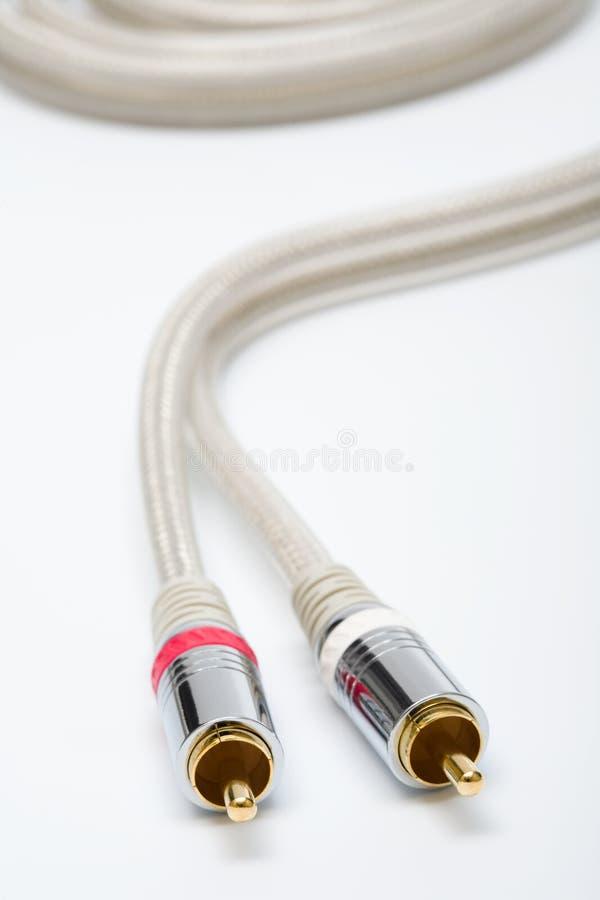 Cable audio moderno fotografía de archivo