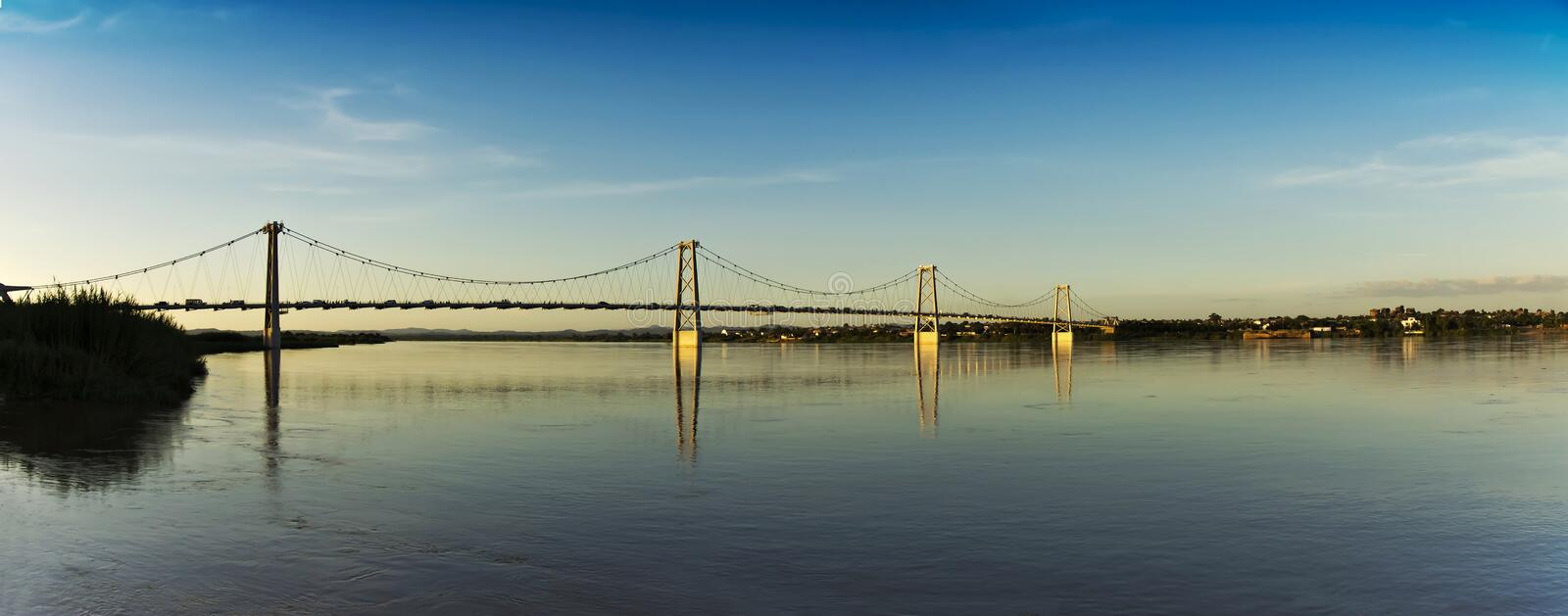 Download Cable Bridge - Panoramic View Royalty Free Stock Photography - Image: 23720747