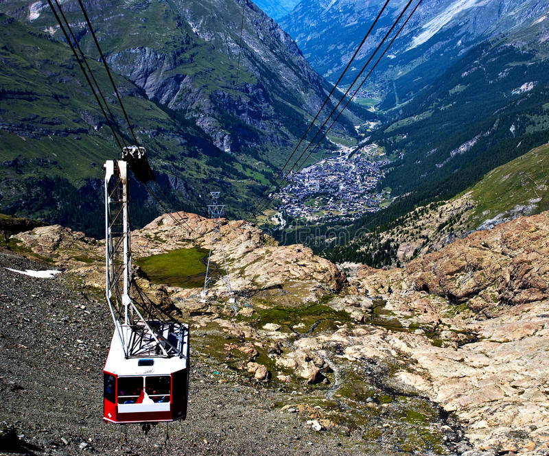 Download Cable car stock image. Image of swiss, alpine, altitude - 13513191