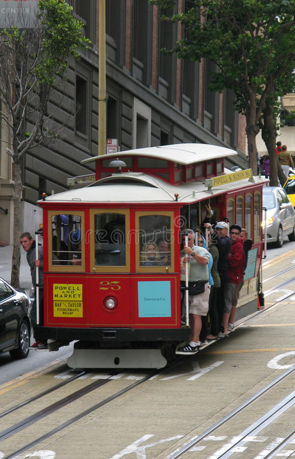 Download Cable car editorial photo. Image of people, sidewalk - 17616166