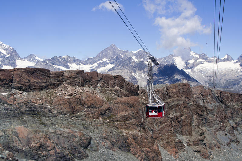 Download Cable car stock photo. Image of matterhorn, alps, moraine - 26339472