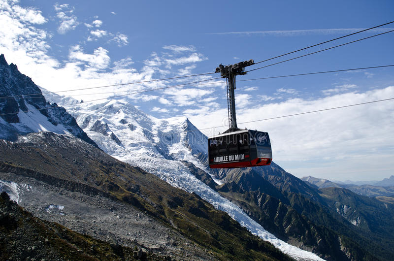 Cable-car stock image
