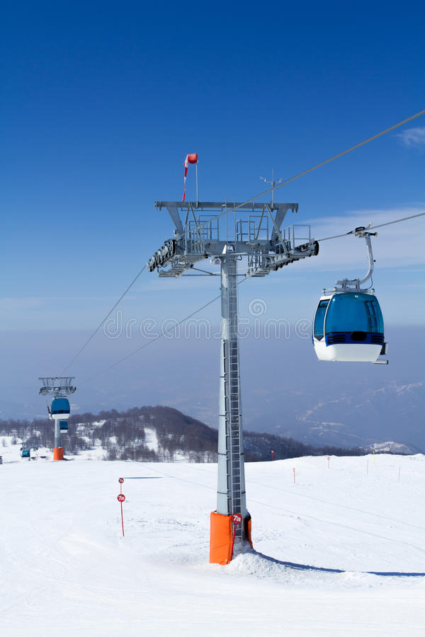 Download Cable car stock photo. Image of ski, high, winter, aerial - 27812952