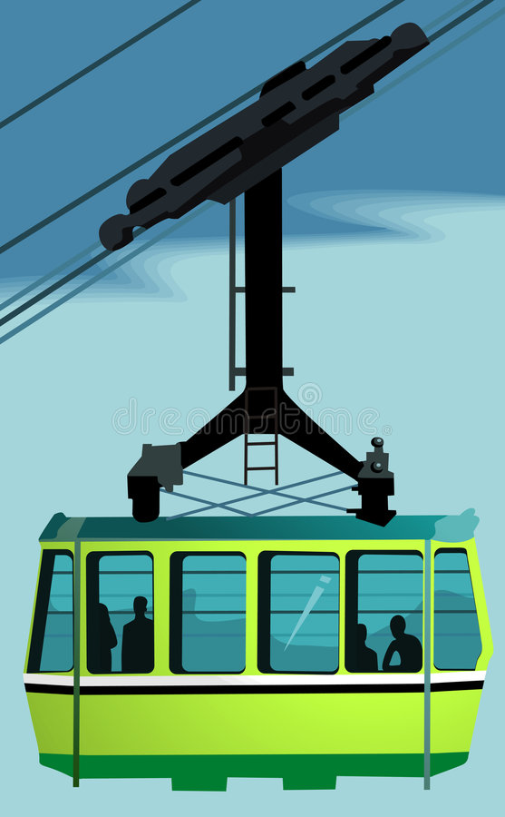Cable Car vector illustration