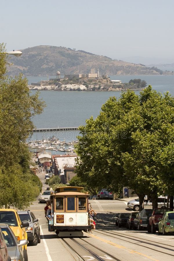 Download Cable Car And Alcatraz Stock Image - Image: 2661581