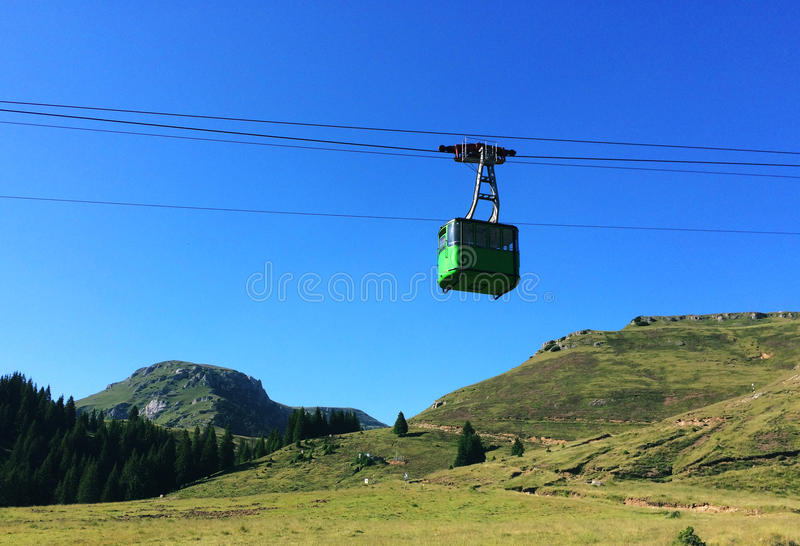 Cable car. In Bucegi mountains royalty free stock photography