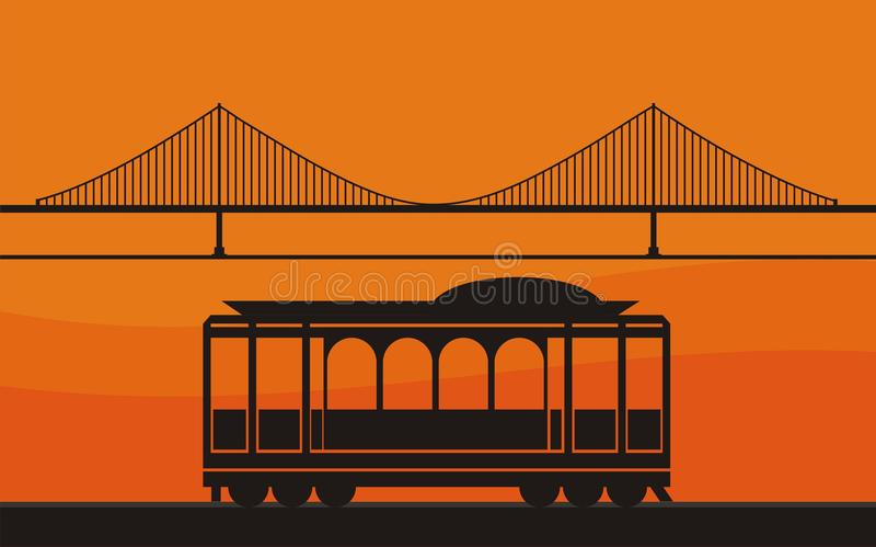 Cable car royalty free illustration