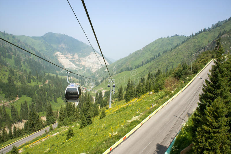 Download Cable car and car-way stock image. Image of panorama - 25617689