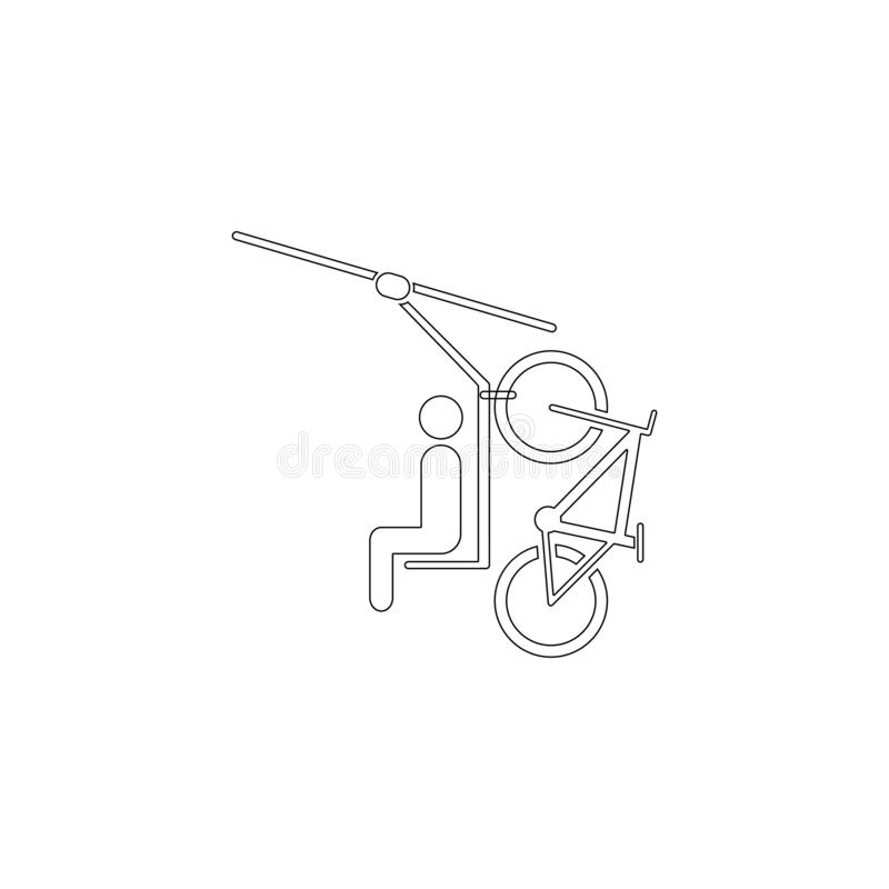 Cable car. flat vector icon. Cable car. simple flat vector icon illustration. outline line symbol - editable stroke stock illustration