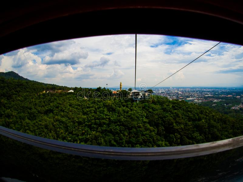 Cable Car at Hatyai Park , Hat Yai , Thailand.  royalty free stock photos