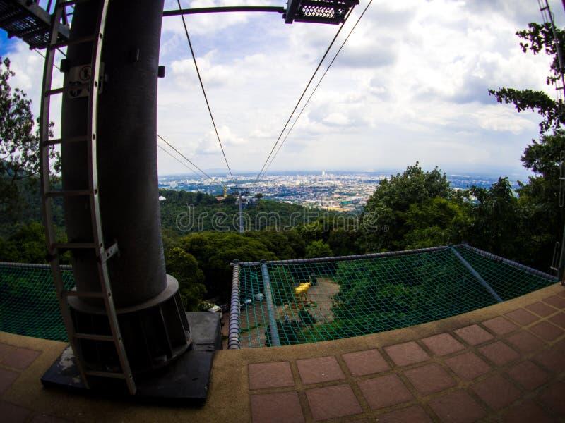 Cable Car at Hatyai Park , Hat Yai , Thailand.  stock photography