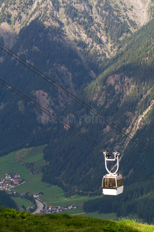 Cable Car High In The Mountains Royalty Free Stock Photos