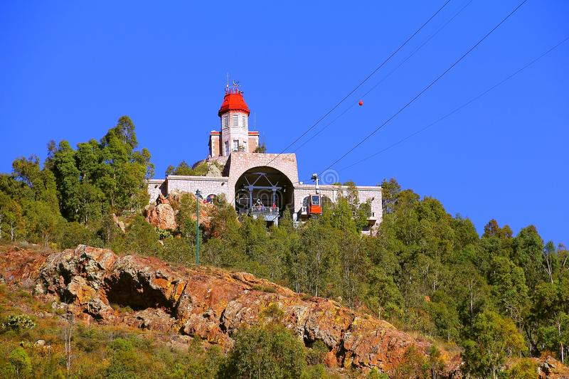 Cable car III. Meteorological observatory and cable car of zacatecas city, mexico royalty free stock photography