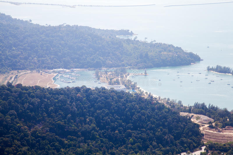 Cable car on Langkawi Island, Malaysia. royalty free stock photos