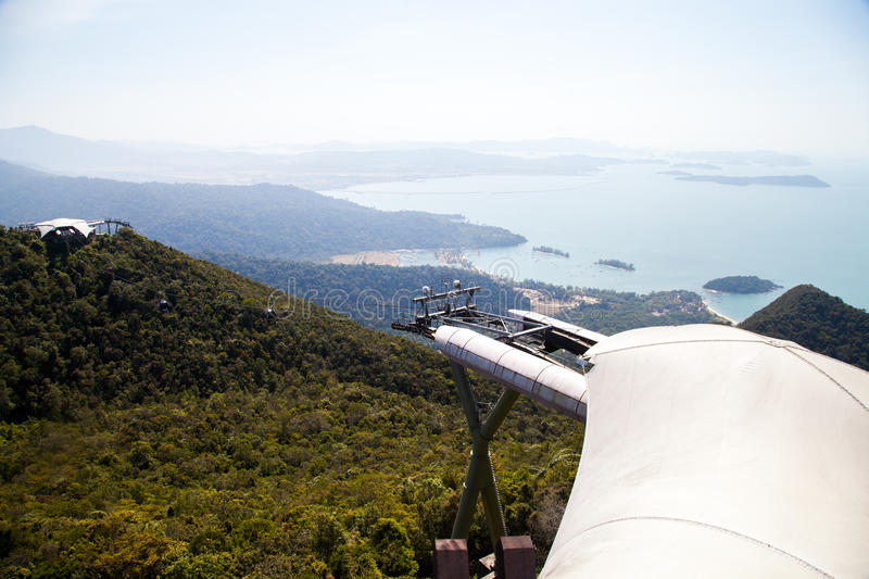 Cable car on Langkawi Island, Malaysia. stock photography