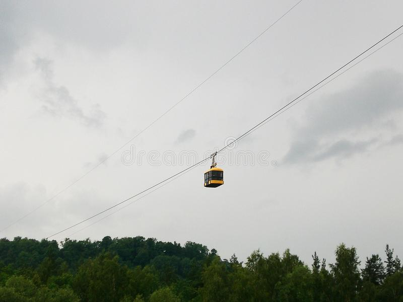 Cable Car Mid-Journey royalty free stock photos