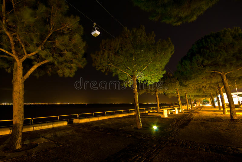 Download Cable car at night stock photo. Image of carry, cabin - 24575984