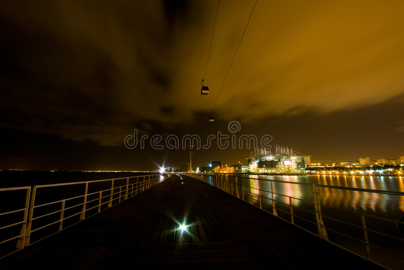 Download Cable car at night stock image. Image of portuguese, cabin - 24576125