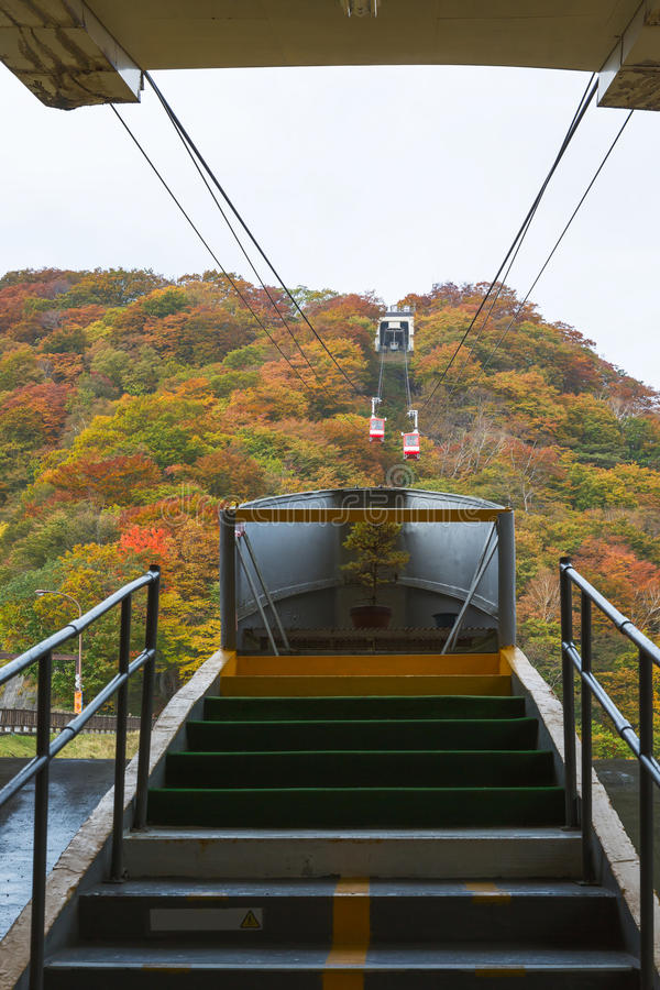 Cable car at Nikko in autumn royalty free stock photo