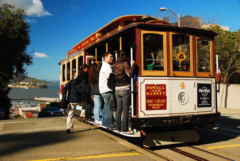 Cable Car on Nob Hill stock photography