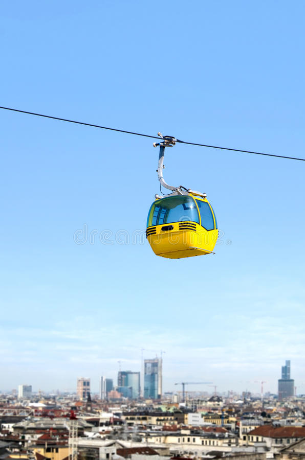 Download Cable car over the city stock image. Image of tourism - 25786261