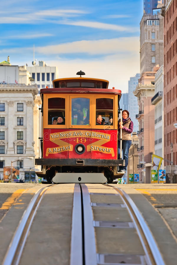 Download Cable car in San Francisco editorial image. Image of passenger - 18740000