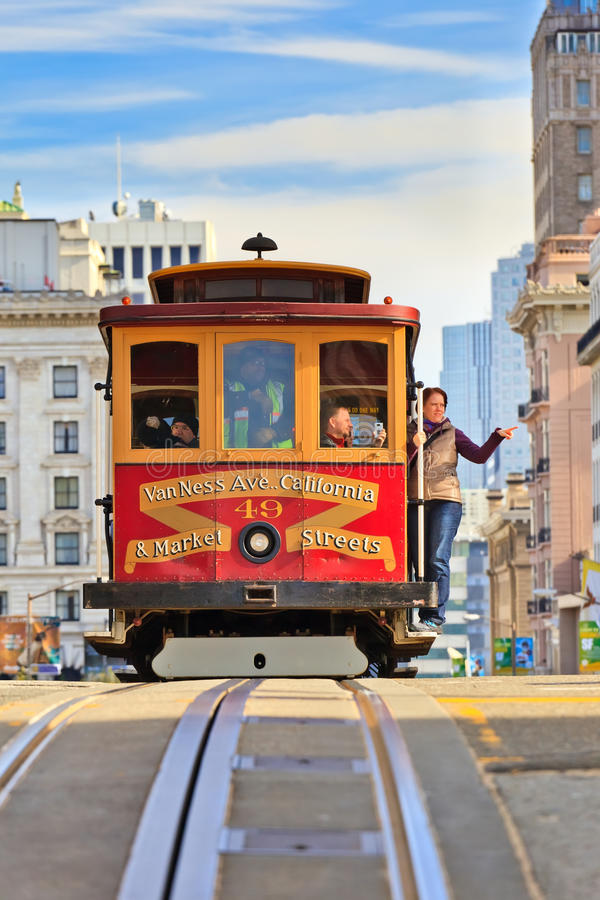 Download Cable car in San Francisco editorial image. Image of states - 20349840