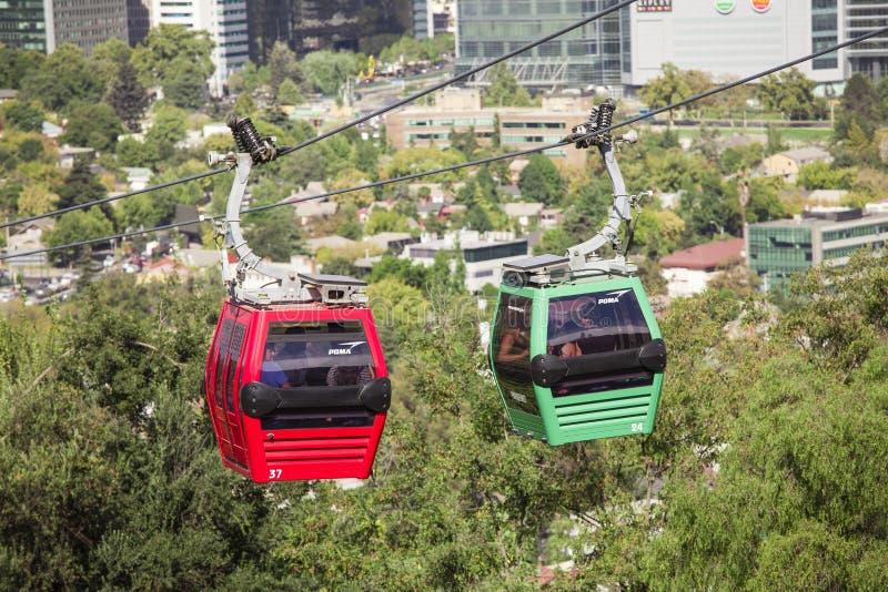 Cable car in Santiago de Chile stock images