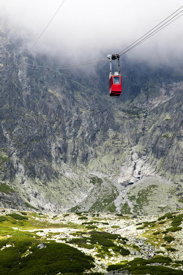 Cable car in Slovakia, High Tatras. Slovakia panorama stock photos