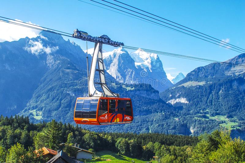 Cable Car In The Snow Capped Mountains Free Public Domain Cc0 Image