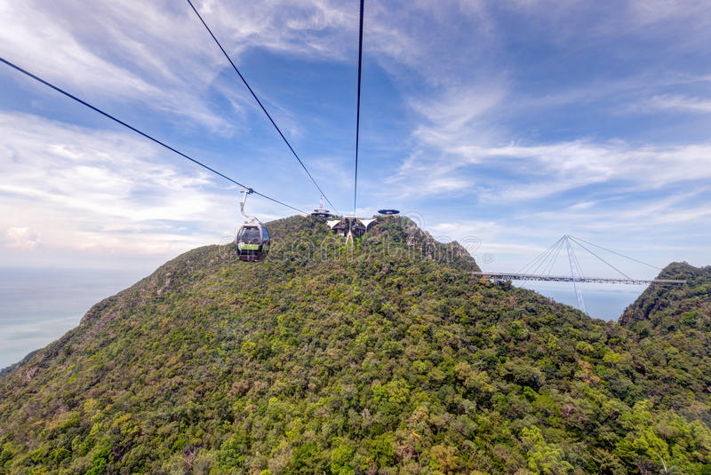 Cable car station, Gunung Machinchang, Langkawi stock images