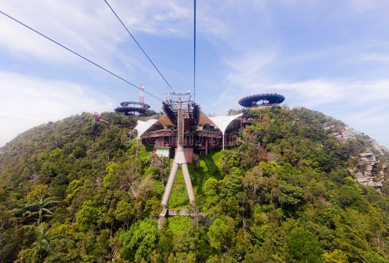 Cable car station, Gunung Machinchang, Langkawi royalty free stock photo