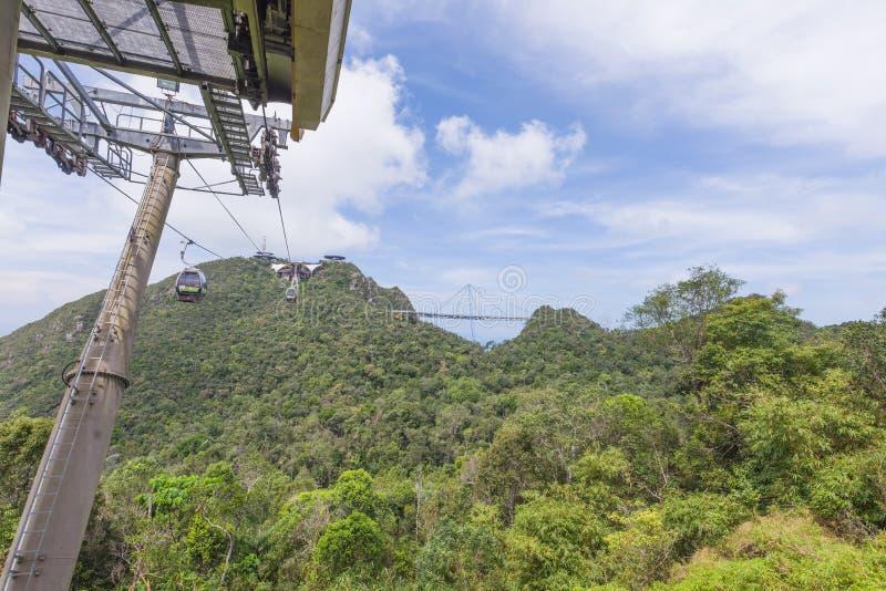 Cable car station, Gunung Machinchang, Langkawi stock photo