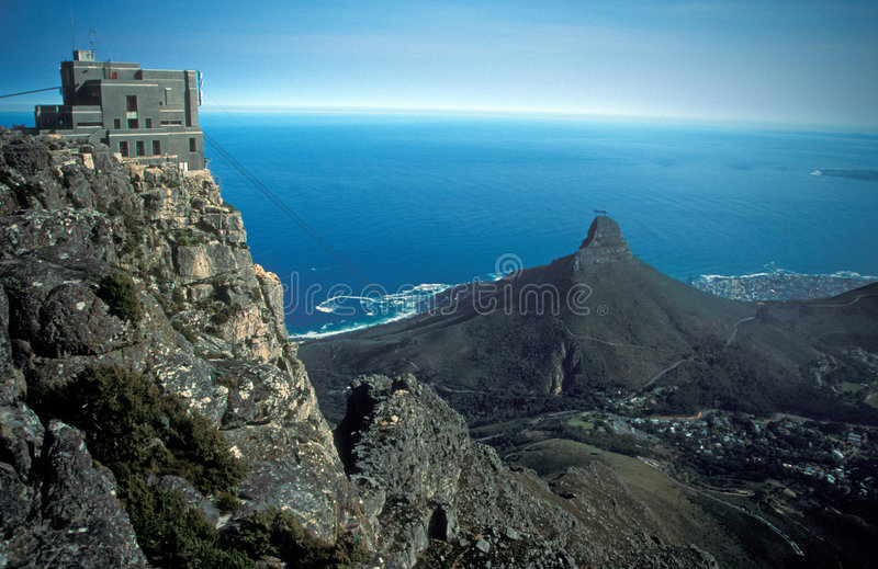 Cable Car Station on Table Mountain stock images