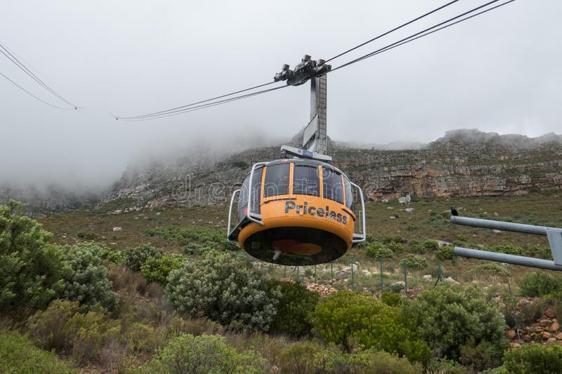 Cable car at Table Mountain Cape Town royalty free stock images
