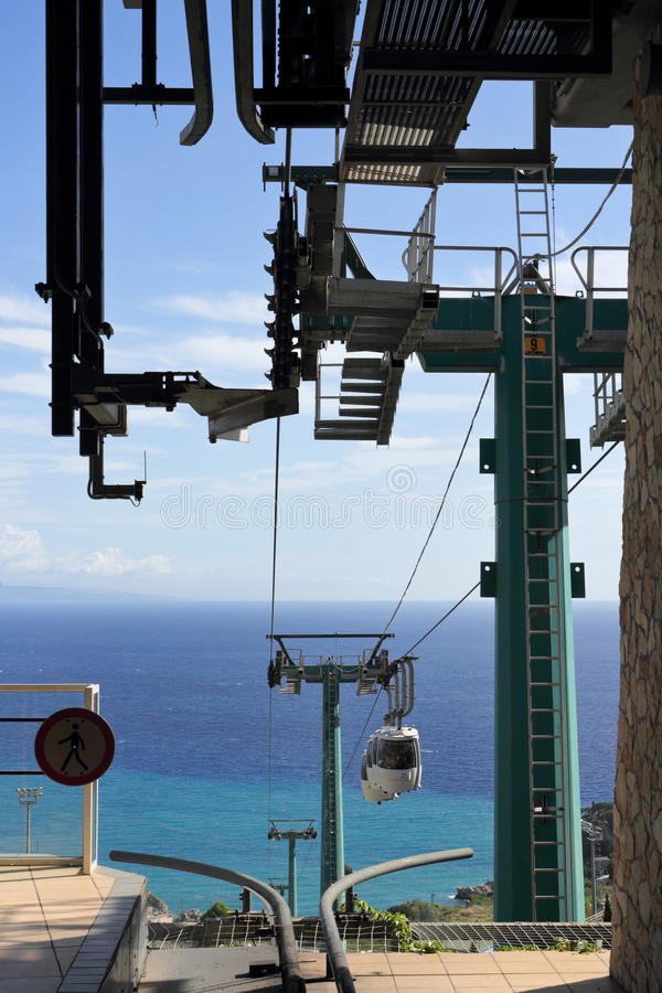 Download Cable Car in Taormina stock photo. Image of cable, mazzaro - 18200330