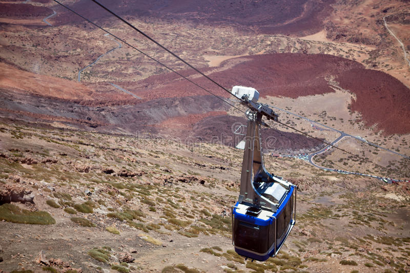Cable Car on Teide Canarian islands, Tenerife stock photo