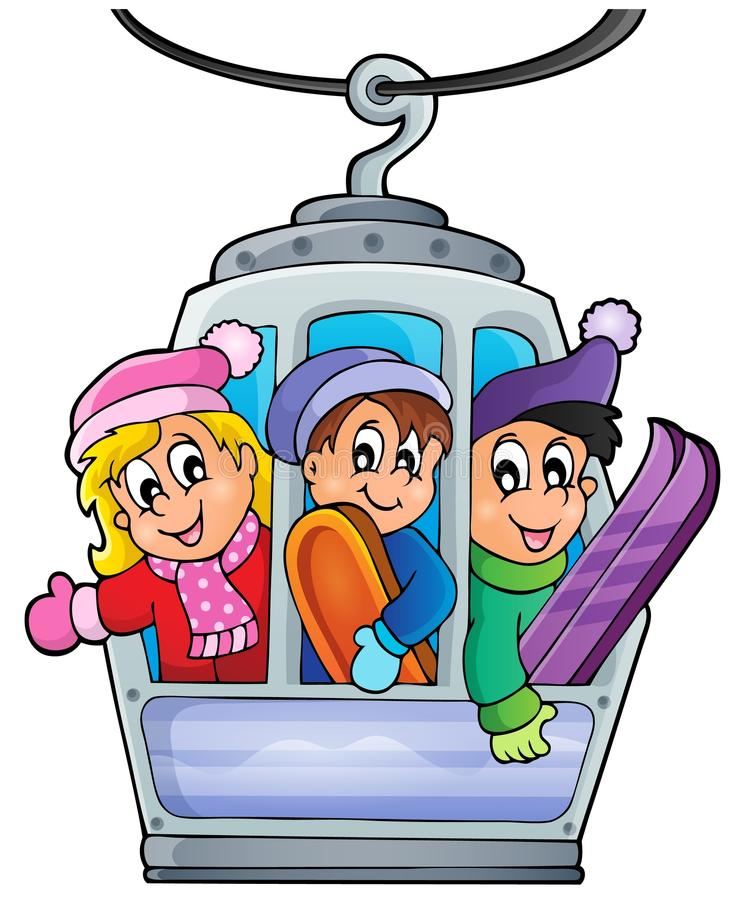 Cable car theme image 1 vector illustration