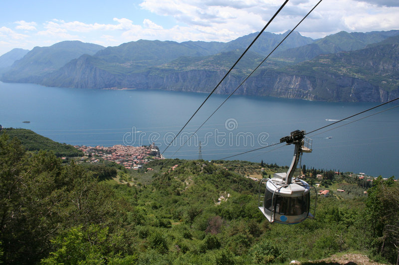 Cable Car to Malcesine. stock images