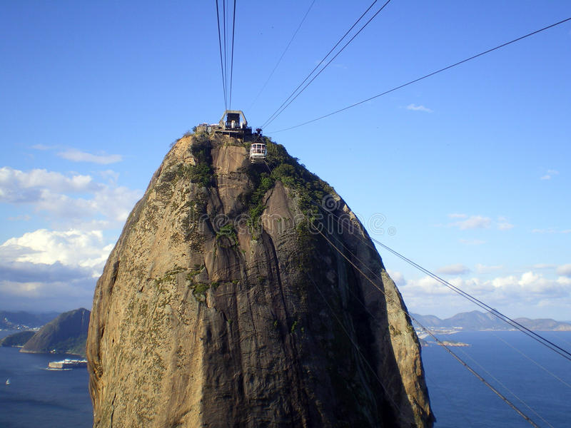 Cable car to Sugar Loaf royalty free stock photo