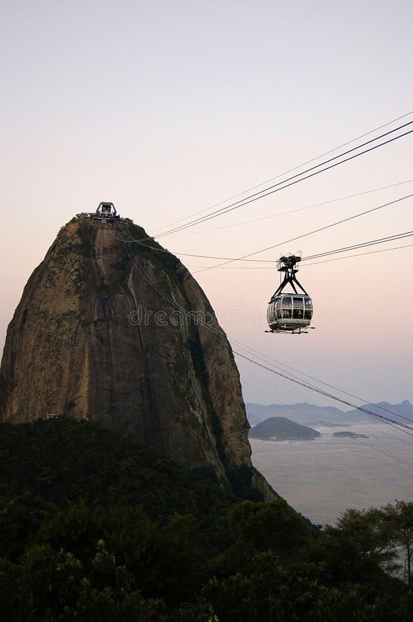 Cable car to Sugar Loaf. Mountain, Ro de Janeiro stock photography