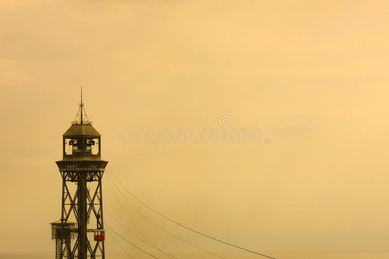 Cable car tower royalty free stock images