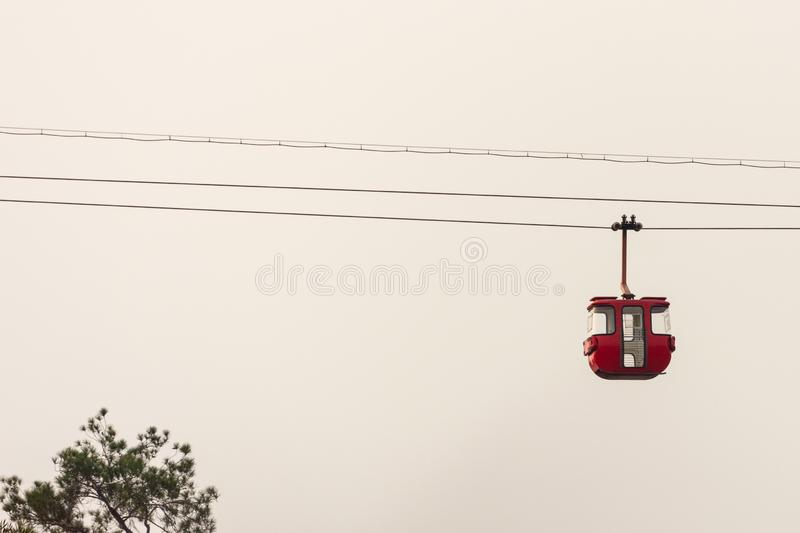 Cable car transportation industries stock photo