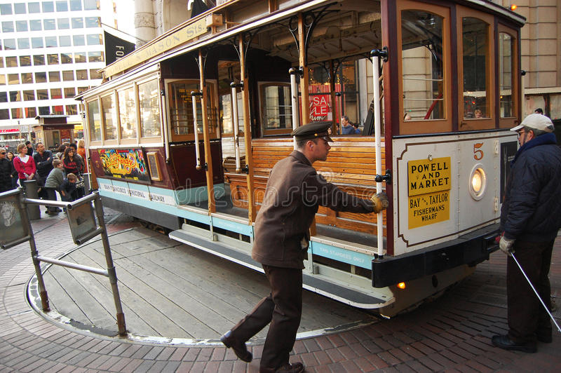 Cable Car On Turntable, San Francisco Editorial Photography